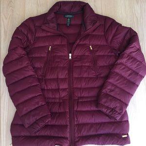 Polo Ralph Lauren Burgundy Puff Jacket